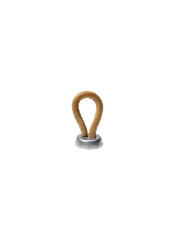 Bouton avec anneau en cuir