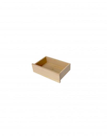 Tiroir en applique en bois massif 15X50 cm