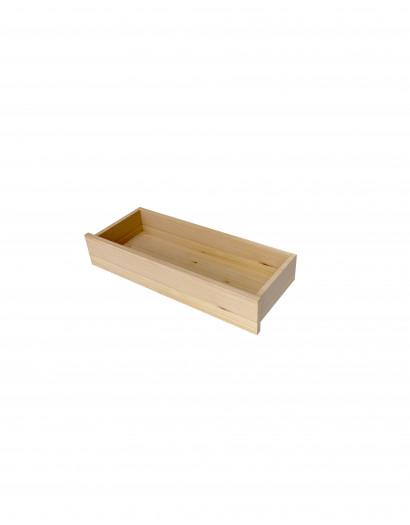 Tiroir en applique en bois massif 15X80 cm
