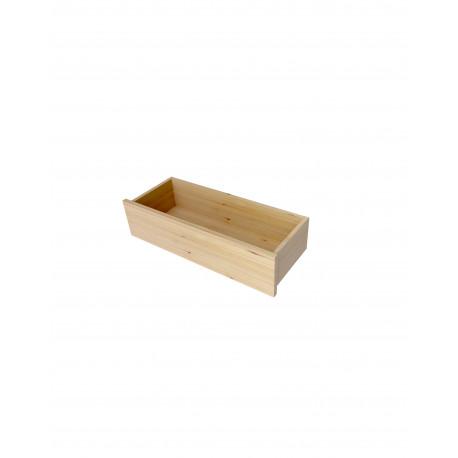 Tiroir en applique en bois massif 20X80 cm
