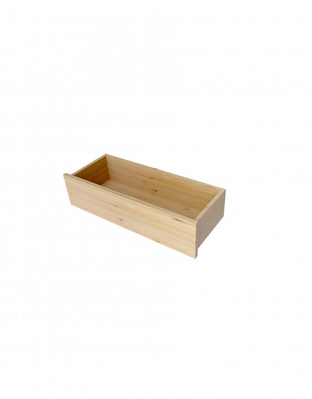 Tiroir en applique en bois massif 20X80