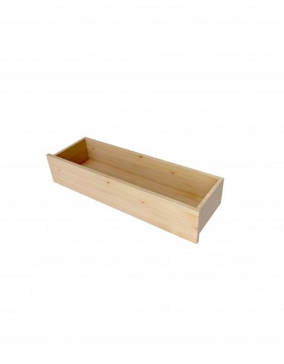 Tiroir en applique en bois massif 20X100 cm