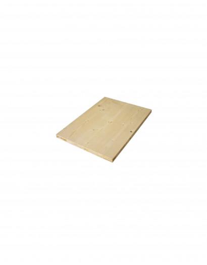 Plateau de table en épicéa massif brut 96.5 cm