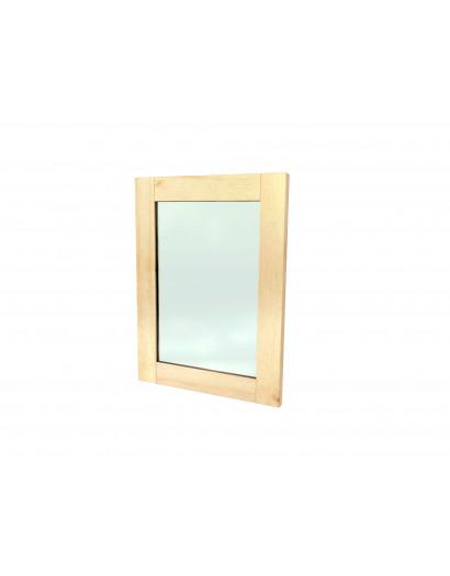 Porte cadre massif et panneau vitré - charnière à droite 50 cm