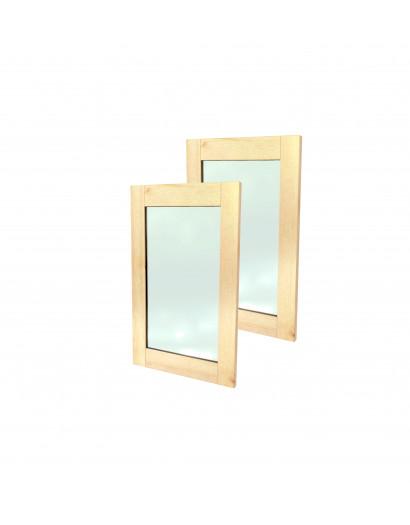 Porte cadre en bois massif et panneau vitré 80 cm