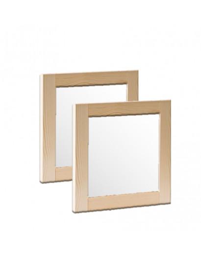 Porte cadre en bois massif et panneau vitré dépoli 100 cm