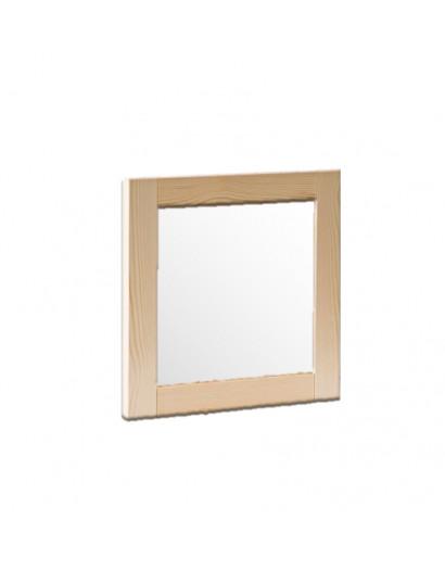 Porte cadre en bois massif et panneau vitré dépoli - droit 50 cm
