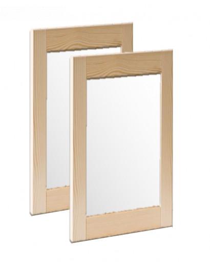 Porte cadre en bois massif et panneau vitré dépoli 80 cm
