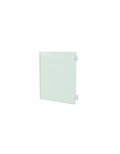 Porte en verre clair trempé - charnière à droite 50 cm