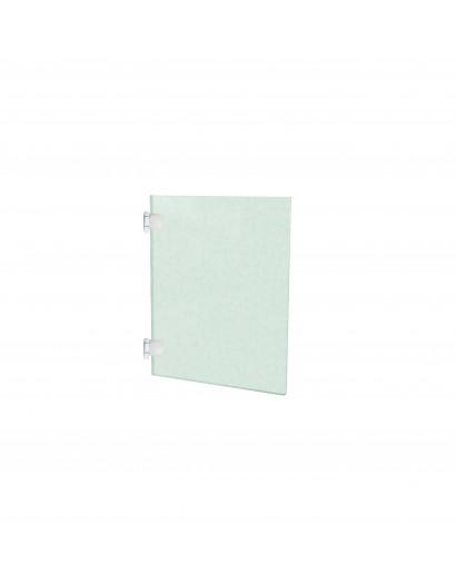 Porte en verre clair trempé - charnière à gauche 50 cm