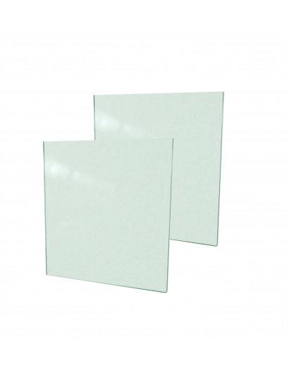 2 portes en verre clair trempé 80 cm