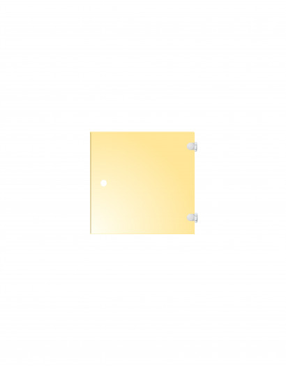 Porte en verre de couleur - charnière à droite 50 cm