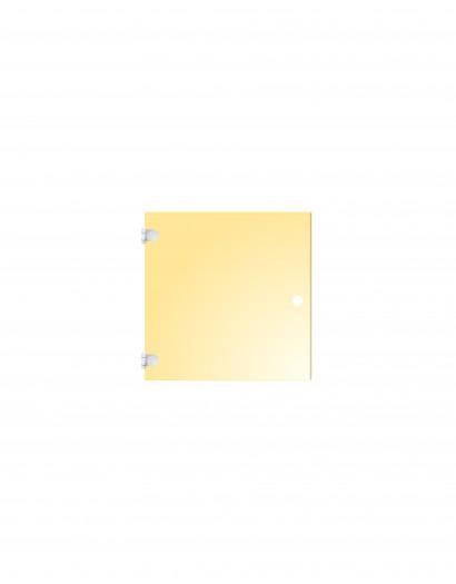 Porte en verre de couleur - charnière à gauche 50 cm