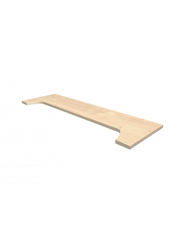Tablette en retrait 100 cm