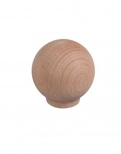 Bouton de porte - Boule en bois 30 mm