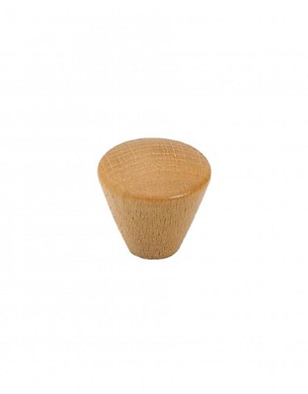 Bouton cône en bois verni
